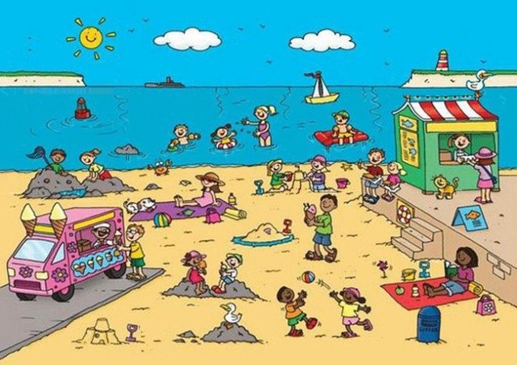 what can you see beach